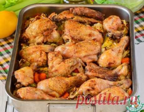 Курица, запеченная с овощами и рисом – кулинарный рецепт