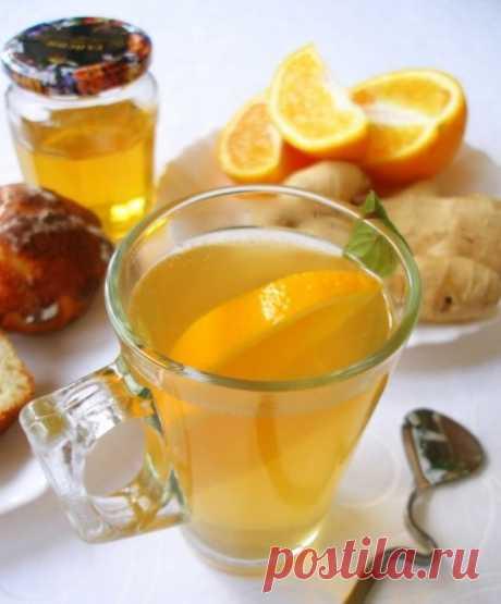 Имбирный чай с апельсином — Мегаздоров