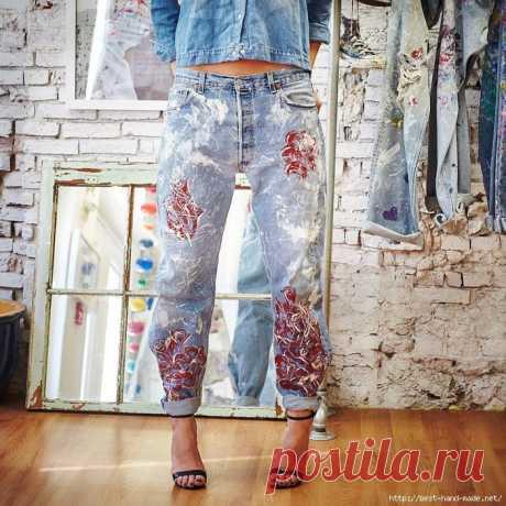 Оригинальная роспись джинсовой одежды. Идеи, мастер-классы