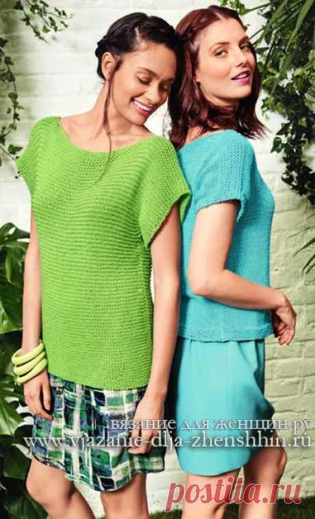 Женские модели спицами для начинающих - свитер спицами для начинающих