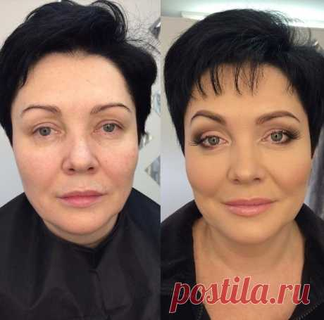 Anti-aging make-up BEFORE AND AFTER: how to look younger for 15 years