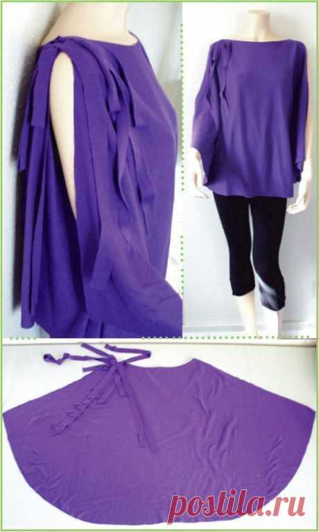 Топ-размахайка (выкройка) Модная одежда и дизайн интерьера своими руками