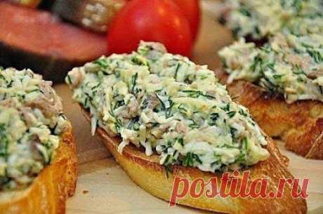шеф-повар Одноклассники: Закусочные бутерброды с печенью трески и сыром