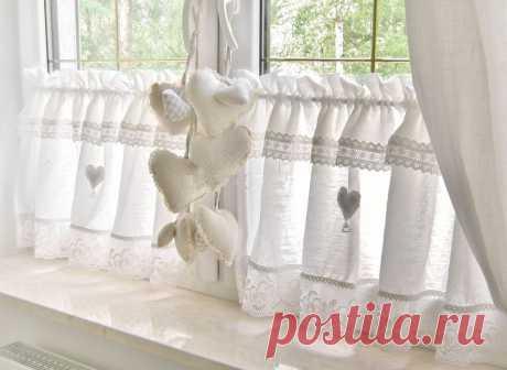 Идеи штор и занавесок в винтажном стиле для дачного дома - Ярмарка Мастеров - ручная работа, handmade