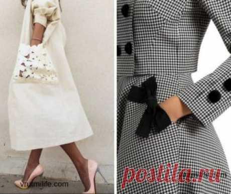 Посмотрите, как всего одна деталь меняет весь образ. 25+ фото идей Блузы украшают бисером и пайетками, расписывают краской по ткани, кофты подрезают, сверху пришивают банты. Однако самую простую вещь можно обновить такой обычной деталью — карманом! Они удачно украшают пальто и платья, кофты и джинсы, юбки и брюки...