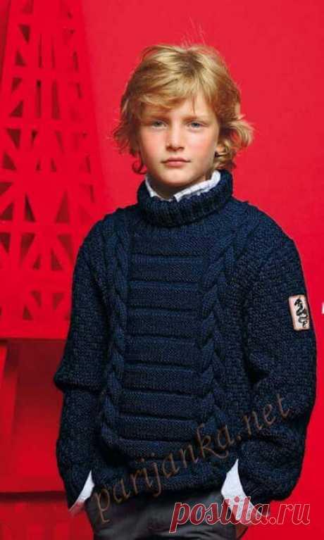 Вязаный спицами свитер для мальчика. Свитер спицами Колледж со схемой и мастер-классом. Свитер спицами для мальчика Зебра.