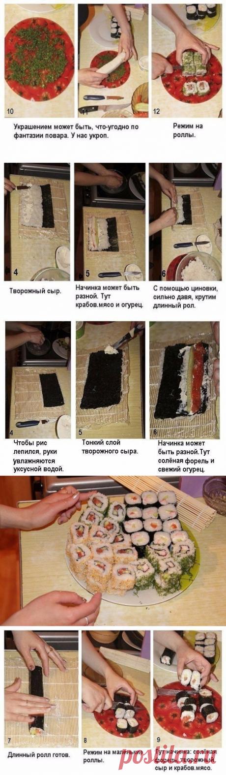 Мастер-класс по приготовлению роллов;) — Едим дома