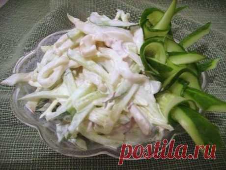 Новогодний салат с кальмарами - рецепт с фото / Простые рецепты