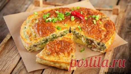 Рыбный диетический пирог из консервы