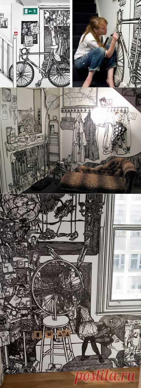Рисунки Шарлотты Манн / Декор стен / Модный сайт о стильной переделке одежды и интерьера