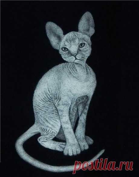 Кот из тополиного пуха, фото, галерея, изображение. Штучки ручной работы созданные своими руками | Рукоделие на Ручном, хэнд мэйд