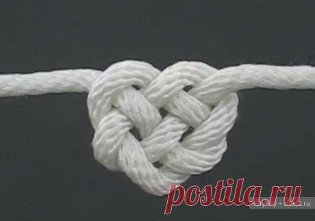 Узел в виде сердца. Техника плетения макраме / Макраме, схемы плетения для начинающих, фото, изделия / КлуКлу. Рукоделие - бисероплетение, квиллинг, вышивка крестом, вязание