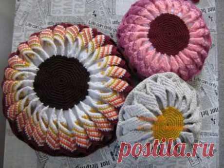 Делаем декоративную круглую подушку/ Make decorative round pillow
