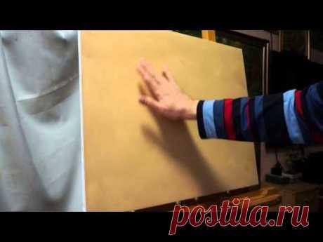 Смазка для холста. Технические советы в масляной живописи - YouTube