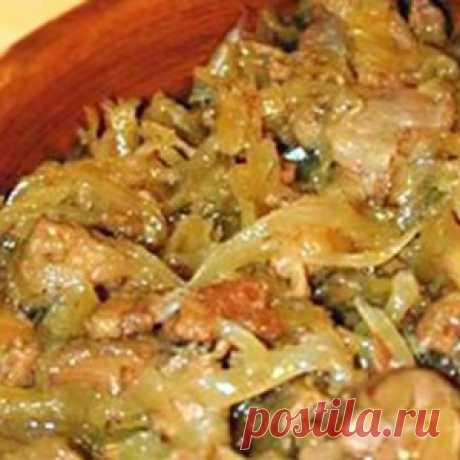 Вкуснейший бигос из свежей капусты с мясом. Только от одного вида захлебнешься слюной