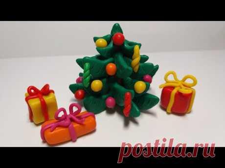 🎄 Как слепить Новогоднюю Елочку из пластилина или полимерной глины (Christmas Tree) - YouTube