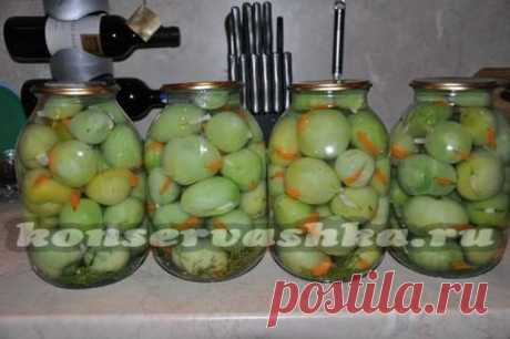 Green tomatoes for the winter: you will lick recipes about a photo, fingers