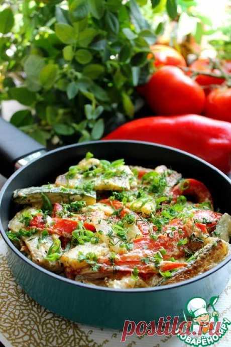 Цуккини с перцем в сметане Кулинарный рецепт