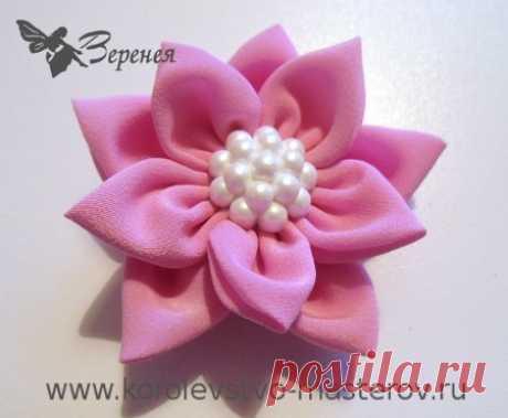 Милый цветок из ткани