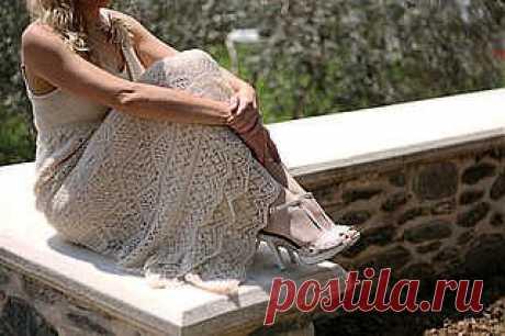 Платье спицами по шетландским мотивам от Жаннетты