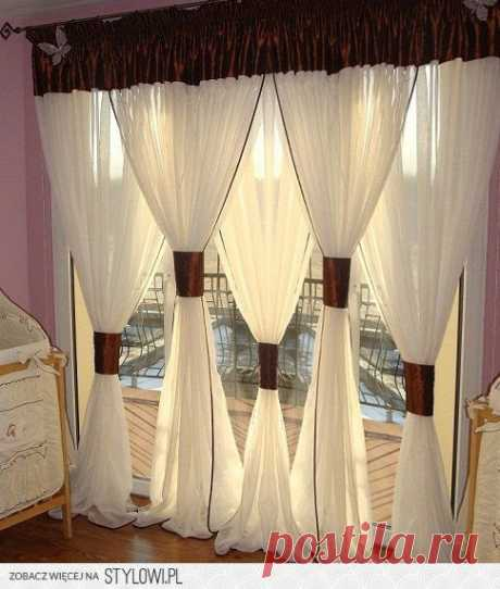 Идеи как оригинально оформить окно текстилем. – В Курсе Жизни