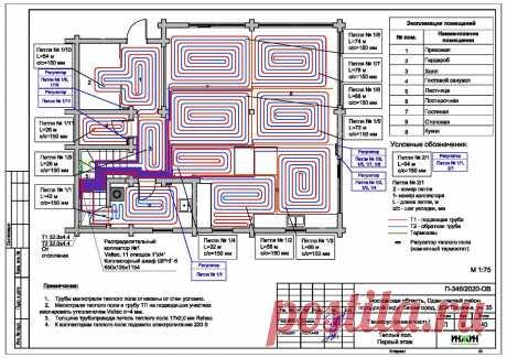 Проект отопления частного дома, пример 1414