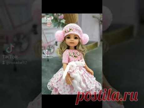 Очень красивая вязаная одежда для кукол!!! 😍🥰 #Розадар #вязания