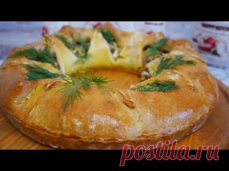 Пирог с рыбой (консервой). Вкусный пирог БЕЗ ДРОЖЖЕЙ. Пирог с консервированной рыбой. Рыбный пирог