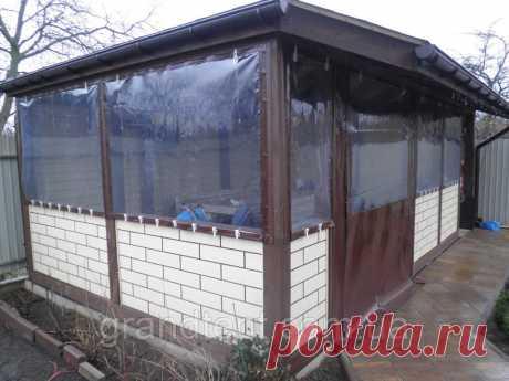 Мягкие прозрачные окна из ПВХ ткани для беседки, цена 450 грн., купить в Киеве — Prom.ua (ID#1187004232)