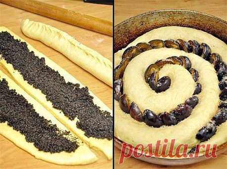 Сдобный спиральный пирог с черносливом и маком. - Простые рецепты Овкусе.ру
