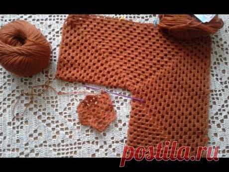 Kardigan de los hexágonos. La parte 1. Las bases de la labor de punto, el hilado. Knitting women's cardigan.