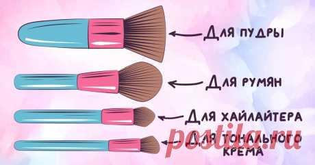 Как не потеряться в разнообразии кистей для макияжа и наносить косметику правильно Выбираем подходящую.