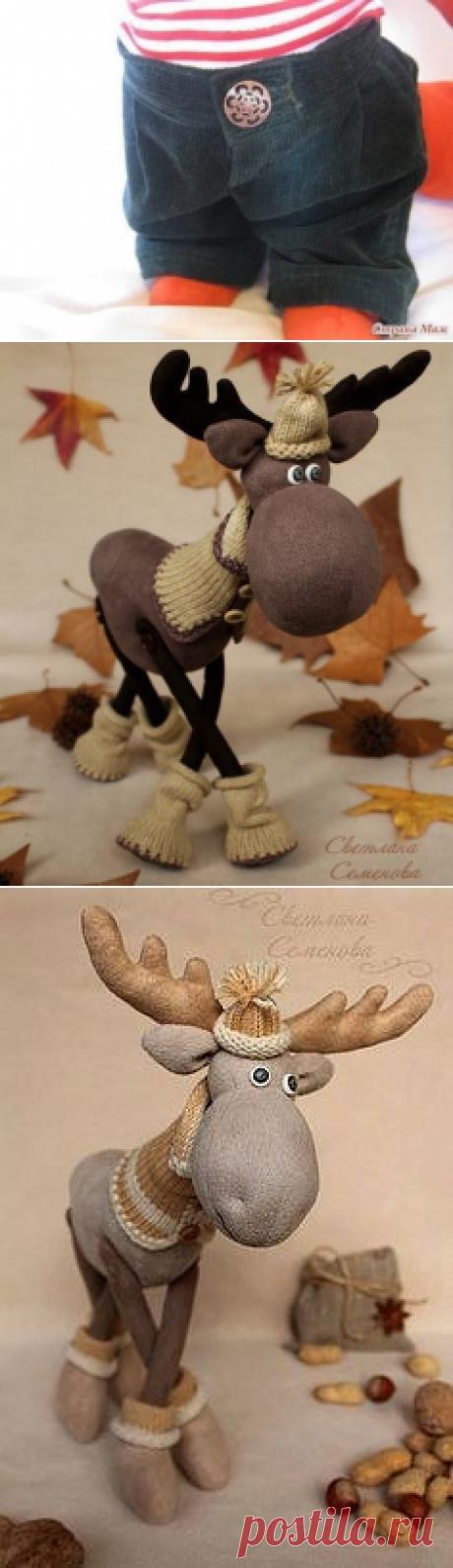 Los ciervos amables textiles de Año Nuevo :) Las ideas y el patrón
