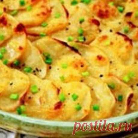 Картофельная запеканка с сельдью (Калалаатикко).