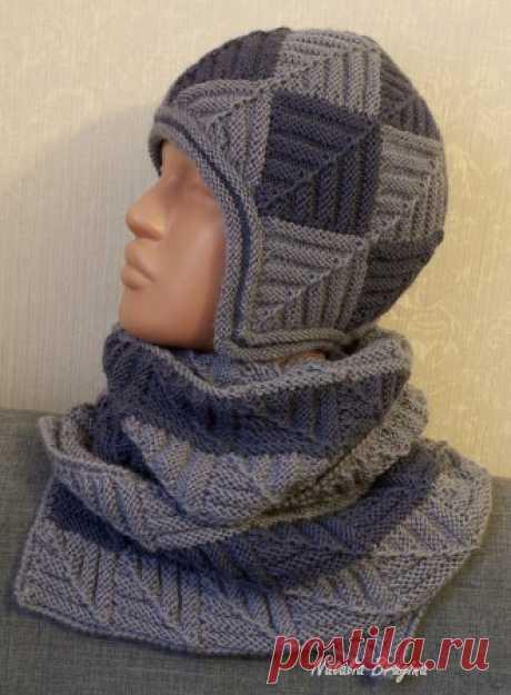 Двойная шапка спицами от Natalia Bragina