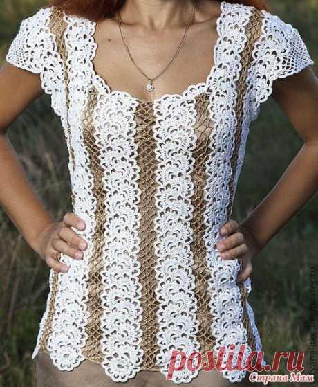 Блузы на основе ленточного кружева. / Необычные поделки