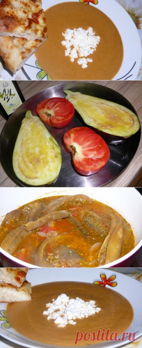 Суп-пюре из печеных баклажанов | Четыре вкуса