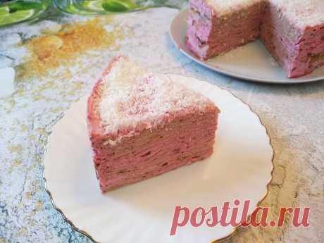 Блинный торт с творожным кремом и вишней!   Светлана Миронова   Яндекс Дзен