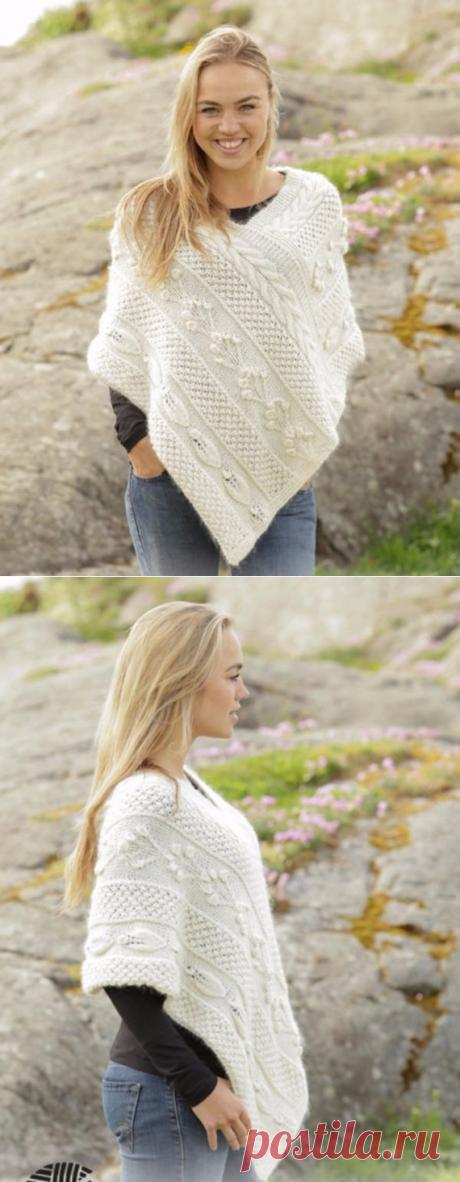 Poncho knit Knitted women Poncho Hand knitted poncho Boho | Etsy