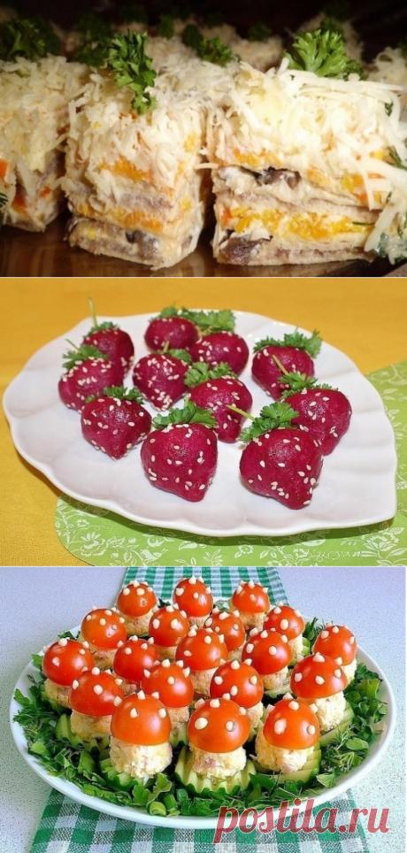 Несколько вкусных и нарядных рецептов закусок - часть первая