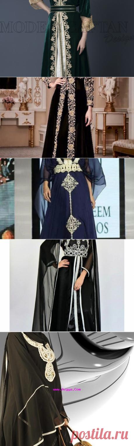 اشيك موديلات القفطان المغربي باللون الأسود – سيدات مصر