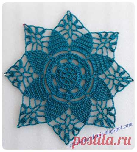 Crochet Heklanje: Veliki zeleni motiv - Moj rad 187