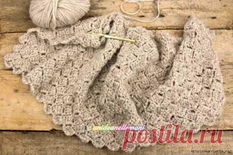 Very nice pattern small squares. (Knitting by a hook) - Mirtesen