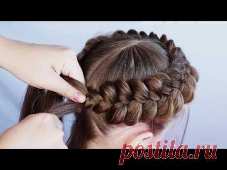 Красивая #прическа для школы / корзинка / #прически на длинные волосы