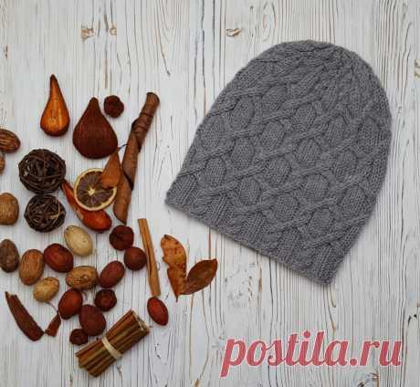 Серая удлиненная шапочка - блог экспертов интернет-магазина пряжи 5motkov.ru