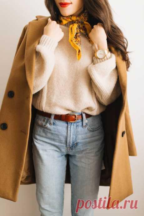 Как модно завязать шарф - фото