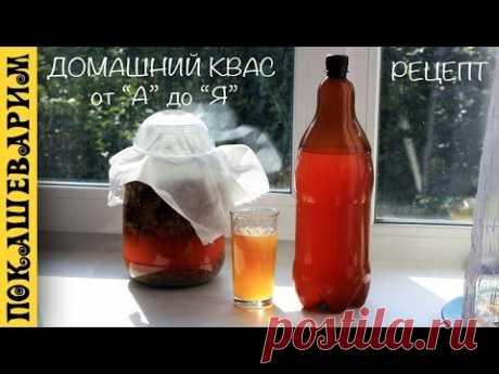 El kvas de casa sobre la levadura sin levadura. Todo es detallado. La receta