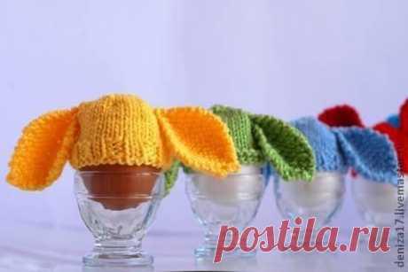 Заячьи шапочки для пасхальных яиц. МК