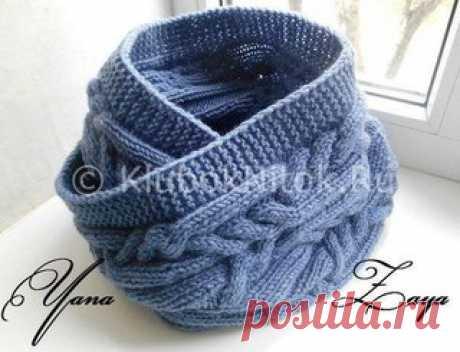 Снуд «Переплетения»  Наш Инстаграм https://www.instagram.com/knitideas/   Еще больше идей для вязания @knitideas (knitideas)  Вяжем спицами красивый снуд в синем цвете косами. Называется — «Переплетения». Пряжа Лана голд от Alize, спицы № 4. Ушло примерно 3 мотка. Цвет номером 684. Размер данного снуда 30 см на 130 см. Длину конечно делаем по желанию. В один оборот или как здесь в два. Моделька очень интересная. По этому узору можно связать шапку и украсить ее помпоном. Мо...