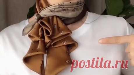 Как красиво завязать платок,шарфик💯 Прекрасные примеры👔